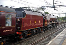 Scarboro' Flyer leaves Wilmslow