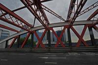 Trafford Road Bridge on a greasy day.