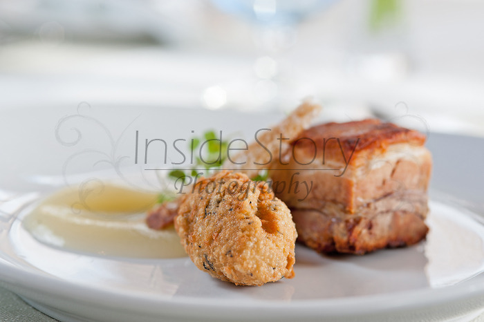 Pork and apple sauce