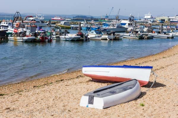 Two Boats on the Sand Poole Harbour