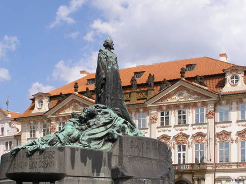 Statue of Jan Hus, Old Town Square