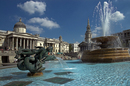 Fountains and National Gallery, London