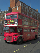The old `Routemaster` London Red Bus