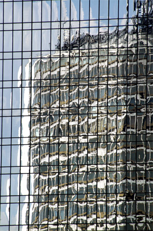 Reflections of Modern Office  block.