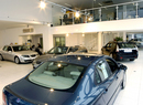 Interior of Saab dealership