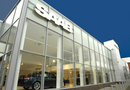 Exterior of Saab dealership