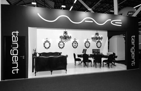 Award winning, Black and White stand,IBC Amsterdam.