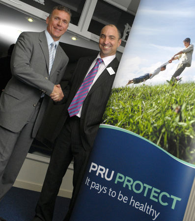 Former England Cricketer, Alec Stewart and host speaker at corporate presentation