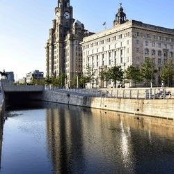 The Liver and Cunard buildings, Liverpool, UK
