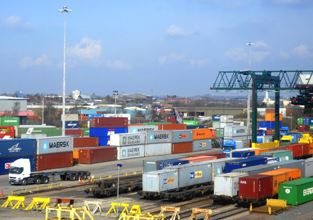 Containers in Freight Terminal, Birmingham