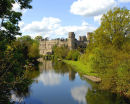 Warwick Castle, U.K. by the River Avon in May 2009