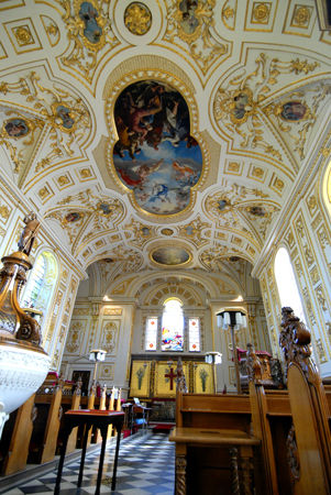 Famous Baroque Interior of Great Witley parish Church, Worcesteshire, U.K.