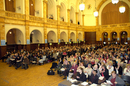Conference in The Great Hall, Birmingham University.