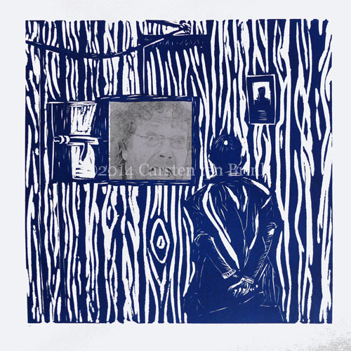 Harrar window AKA Prisoner's Dream chine colle