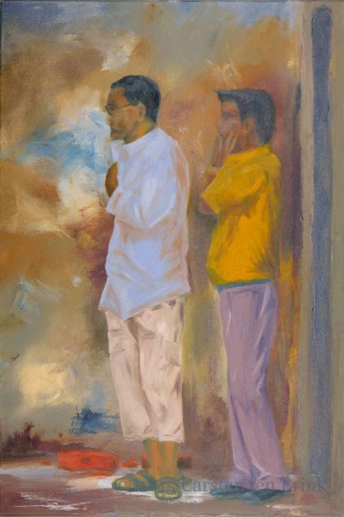 Oil Painting: Kathmandu Observers