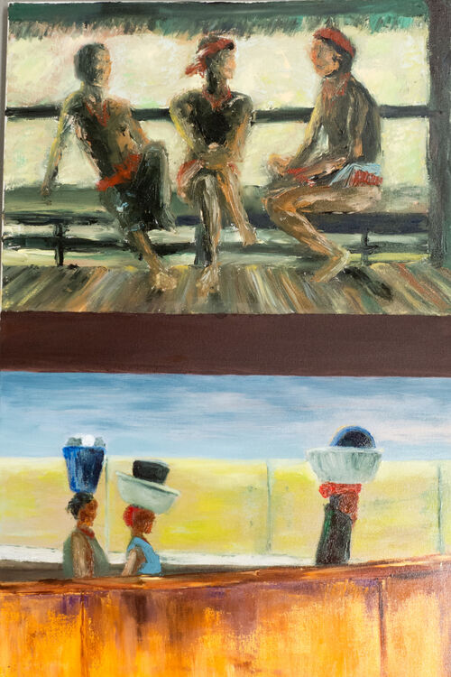 """The trios ('vertical diptych"""")"""