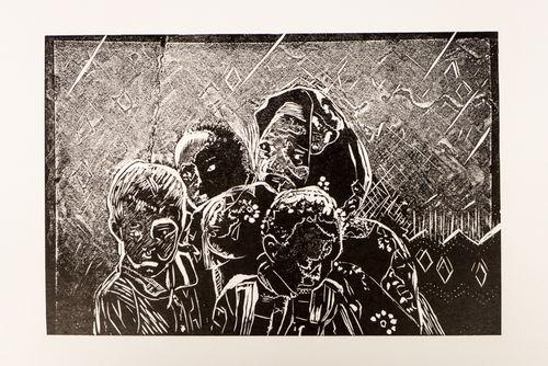 Gabbra Family relief print