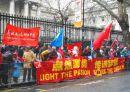 Pro China protestors.