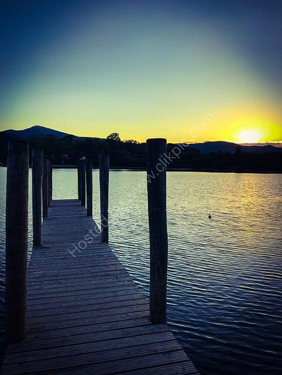 derwent water jetty sunset
