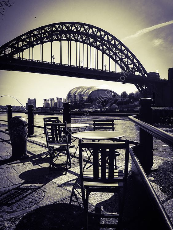 tables on the quayside