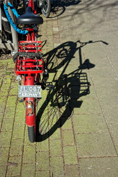 Red Bike Shadow