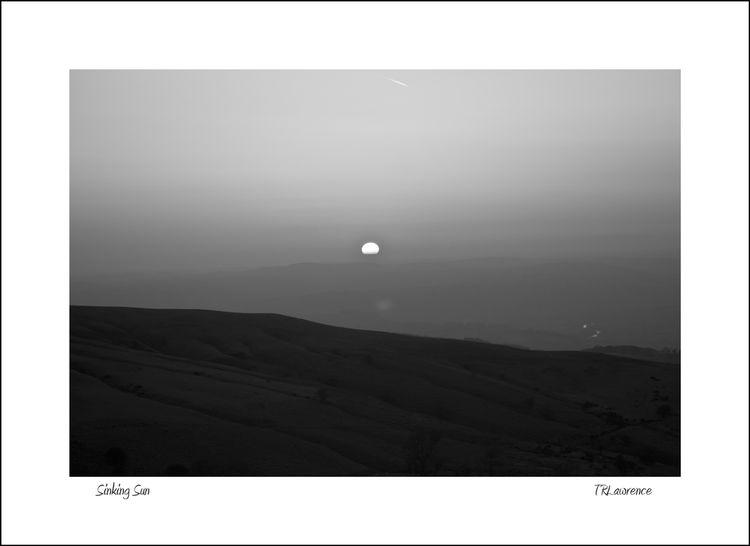 Sinking Sun Black Mountains