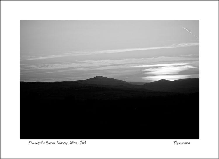 Towards the Brecon Beacons National Park