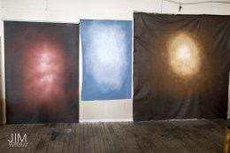 Numerous Painted canvas backdrops