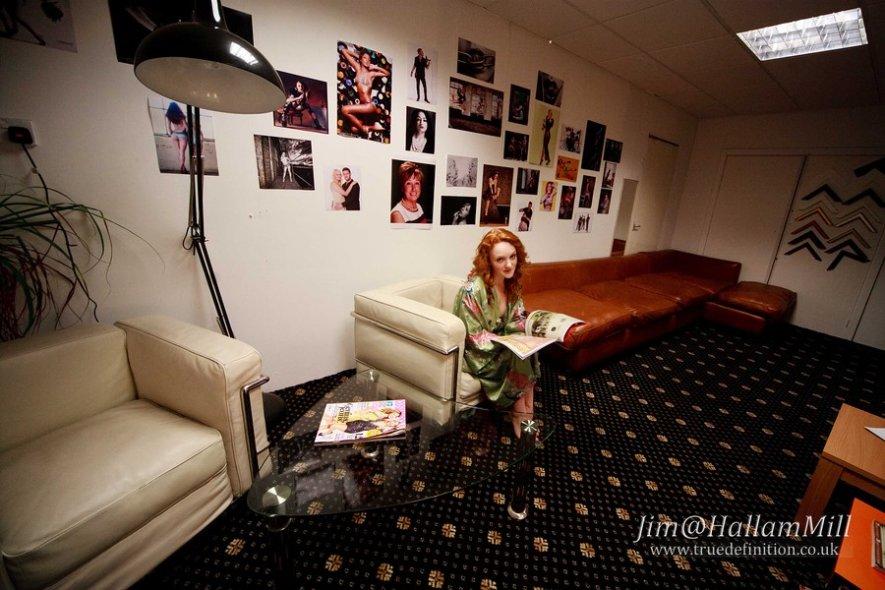 Photo studio lounge green room