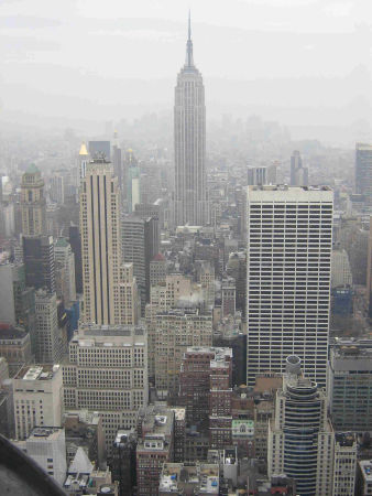 empire state view from rockerfeller centre nyc 2008