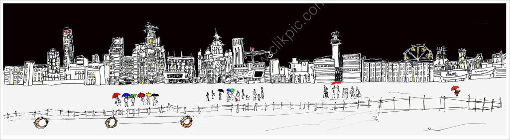 Waterfront - Liverpool (black)
