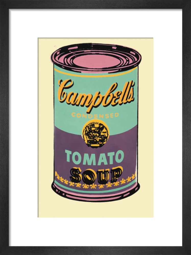 Campbell's Soup Can, 1965 (green & purple) Art print by Andy Warhol