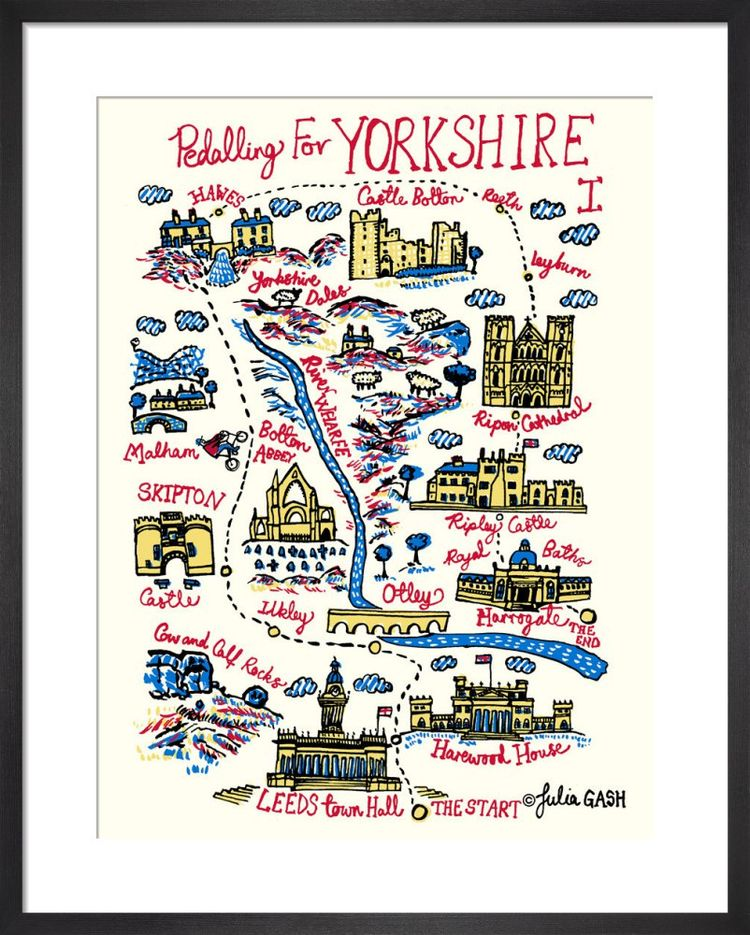 Pedalling For Yorkshire Stage 1 Cityscape by Julia Gash