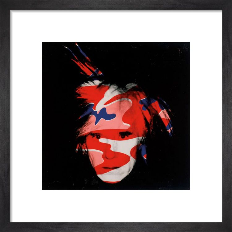 Self Portrait, 1986 (red, white & blue camo) Art print by Andy Warhol
