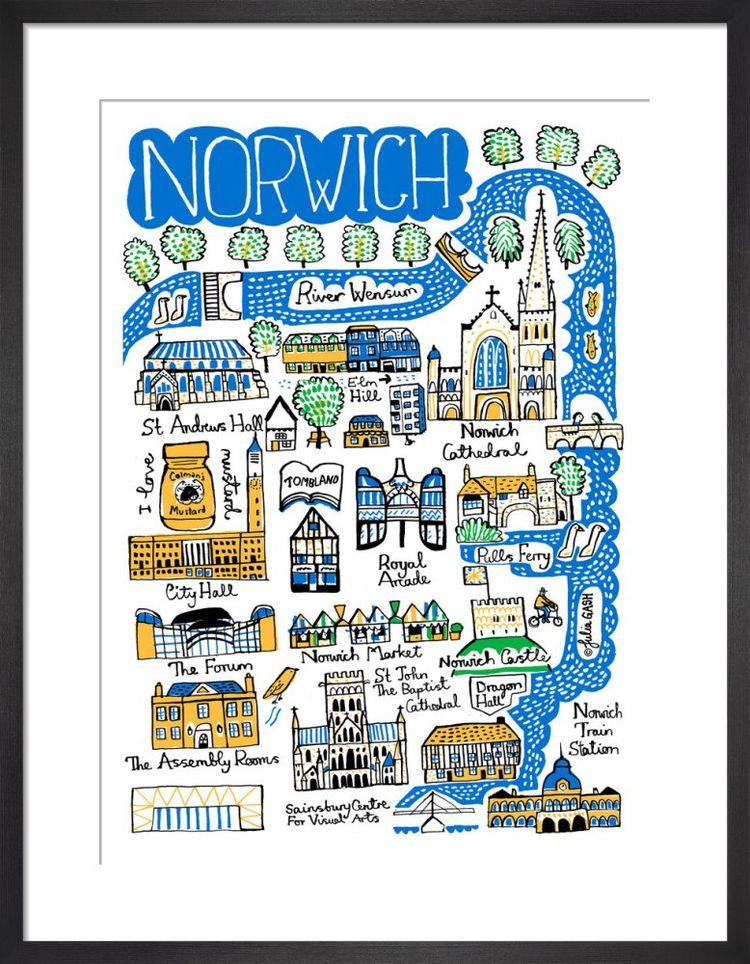 Norwich Cityscape by Julia Gash