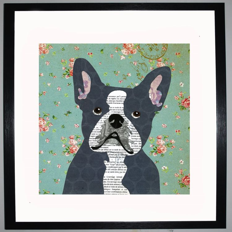 French Bulldog Collage by Clare Thompson