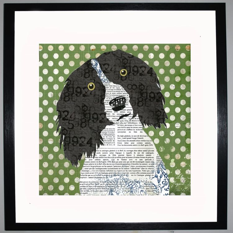 Spaniel Collage by Clare Thompson