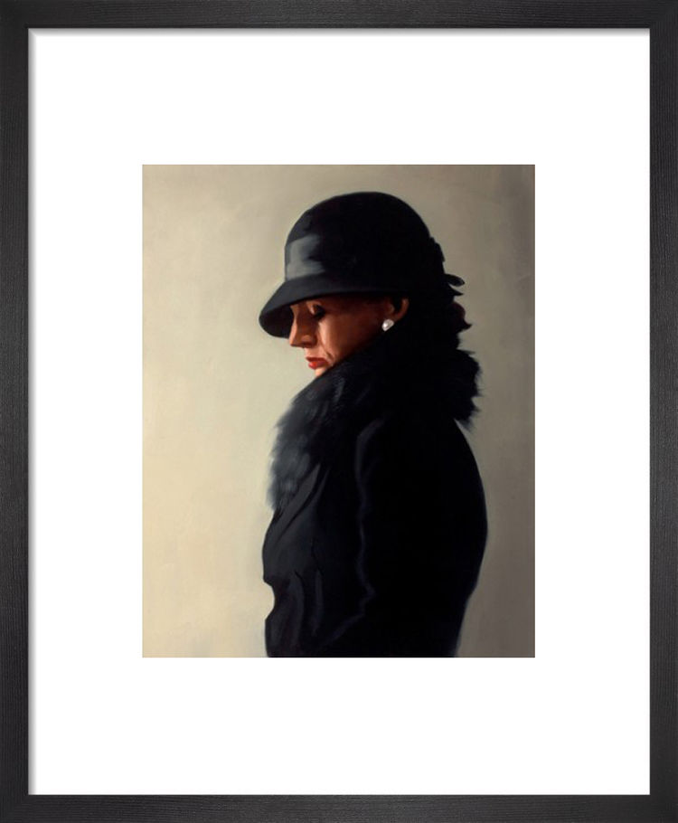 Portrait In Black And Pearl by Jack Vettriano