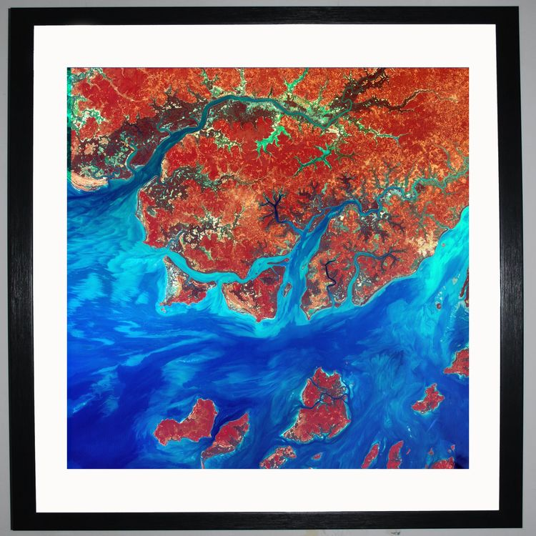 Red Islands by Planet Earth Prints