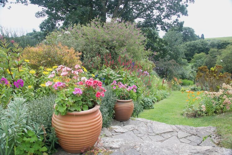 The Eastern Herbaceous Border and Arc Steps