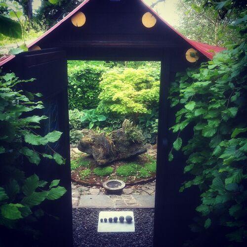 Through the Gatehouse into the Island Garden