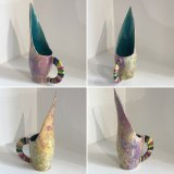 Contemporary Ceramic Art by Galea Belinscaia (Rainbow Handle LYB) Height 26.5 cms (Click & Collect ONLY)