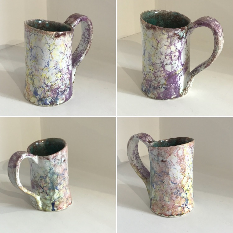 Contemporary Ceramic Art by Galea Belinscaia (TANKARD) Height 12 cms (Click & Collect ONLY)