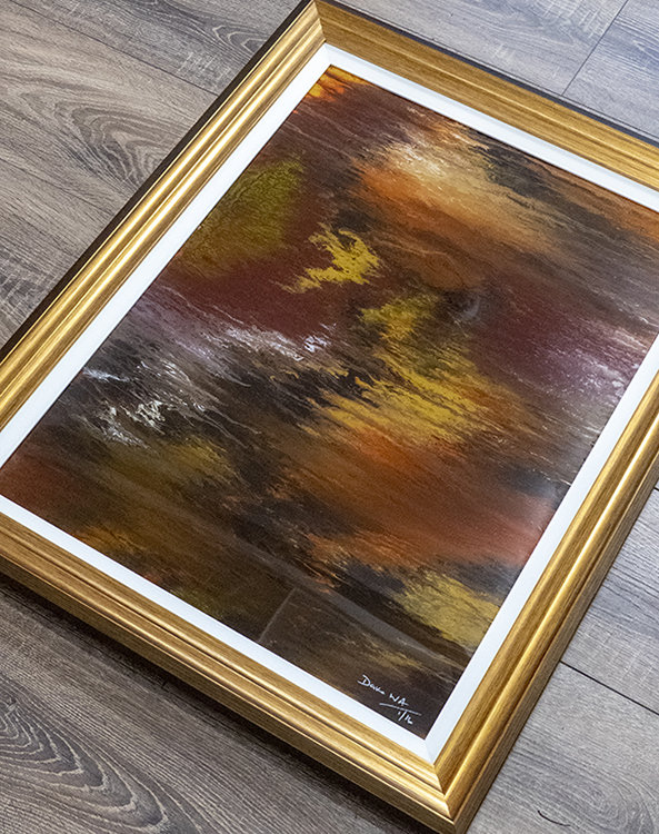Gold Rush - Abstract Art by Abstract Artist Dave Waddington