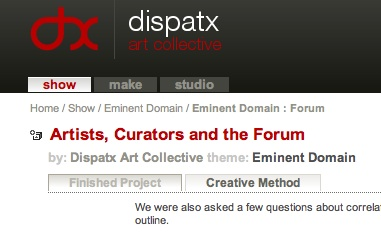 Eminent Domain, Dispatx, 2007