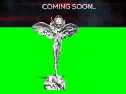 Pazugoo Trailer Announcement (2016), 230cm x 160cm inkjet poster print; monitor; glowsticks replenished daily; shelf with Nylon figures; plastic necklace worn by gallery invigilator