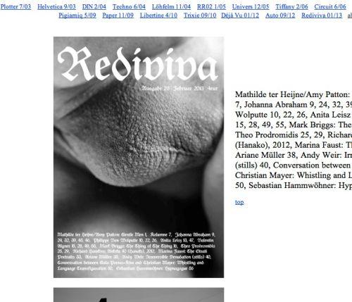 Rediviva, 2013