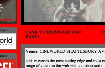 Tank.TV Panel, Raindance Film Festival, Cineworld Picadilly, 2005