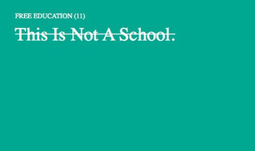 This is Not a School, 2011