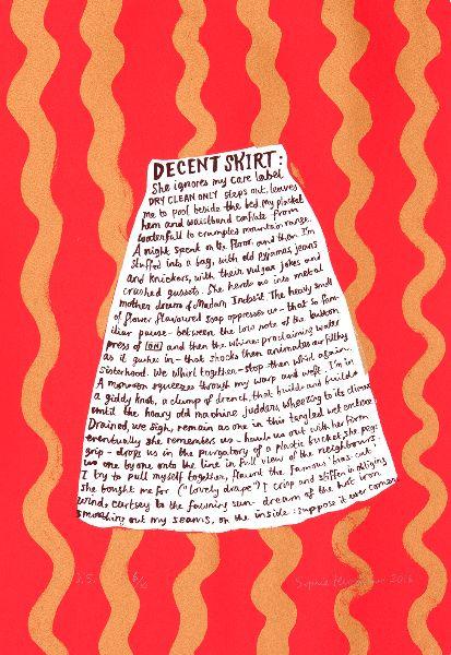 Decent Skirt. (Red/Gold)